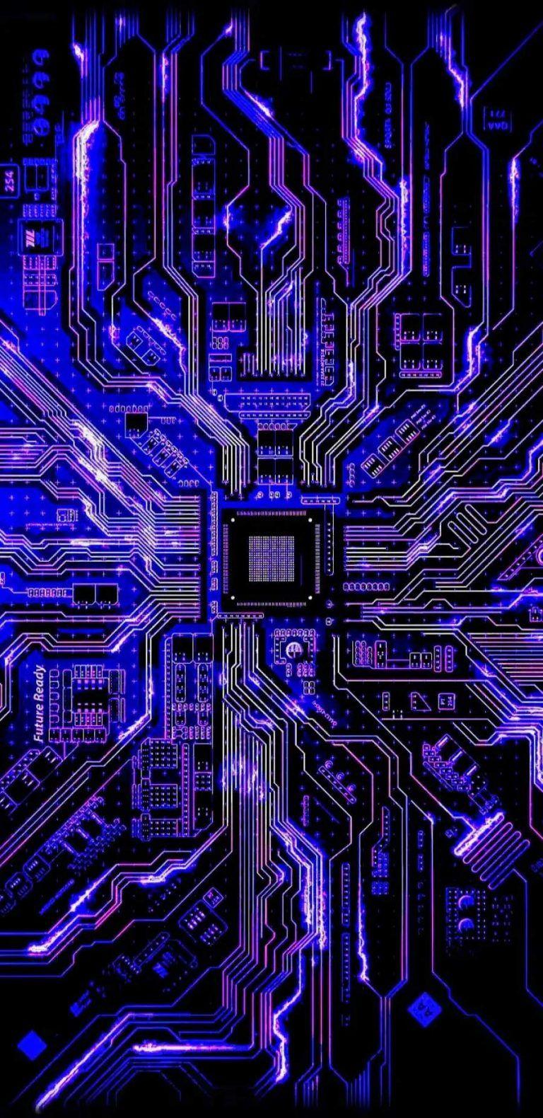 Circuit Board iPhone Wallpaper - iPhone Wallpapers
