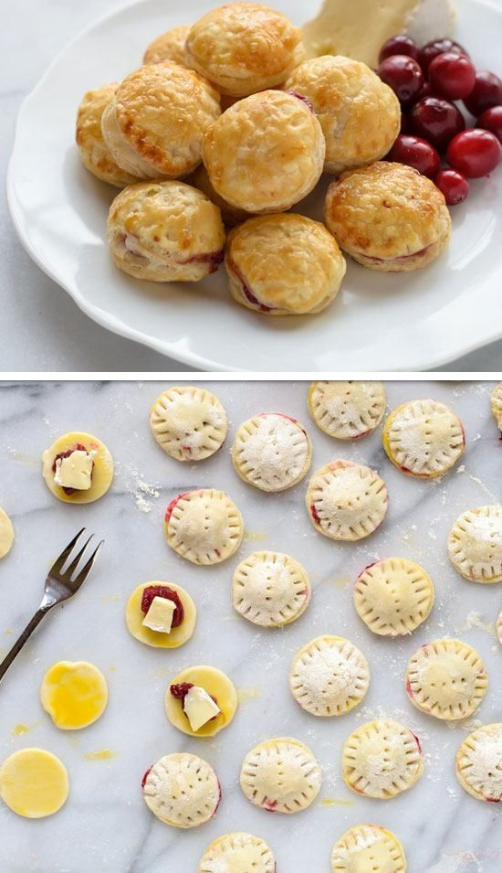 Cranberry Baked Brie Puff Pastry Bites Click for 30 Easy Holiday