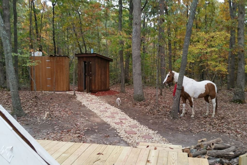 Upscale Camping in Authentic Indian Tipi - Tipis for Rent in Lynchburg, Virginia, United States