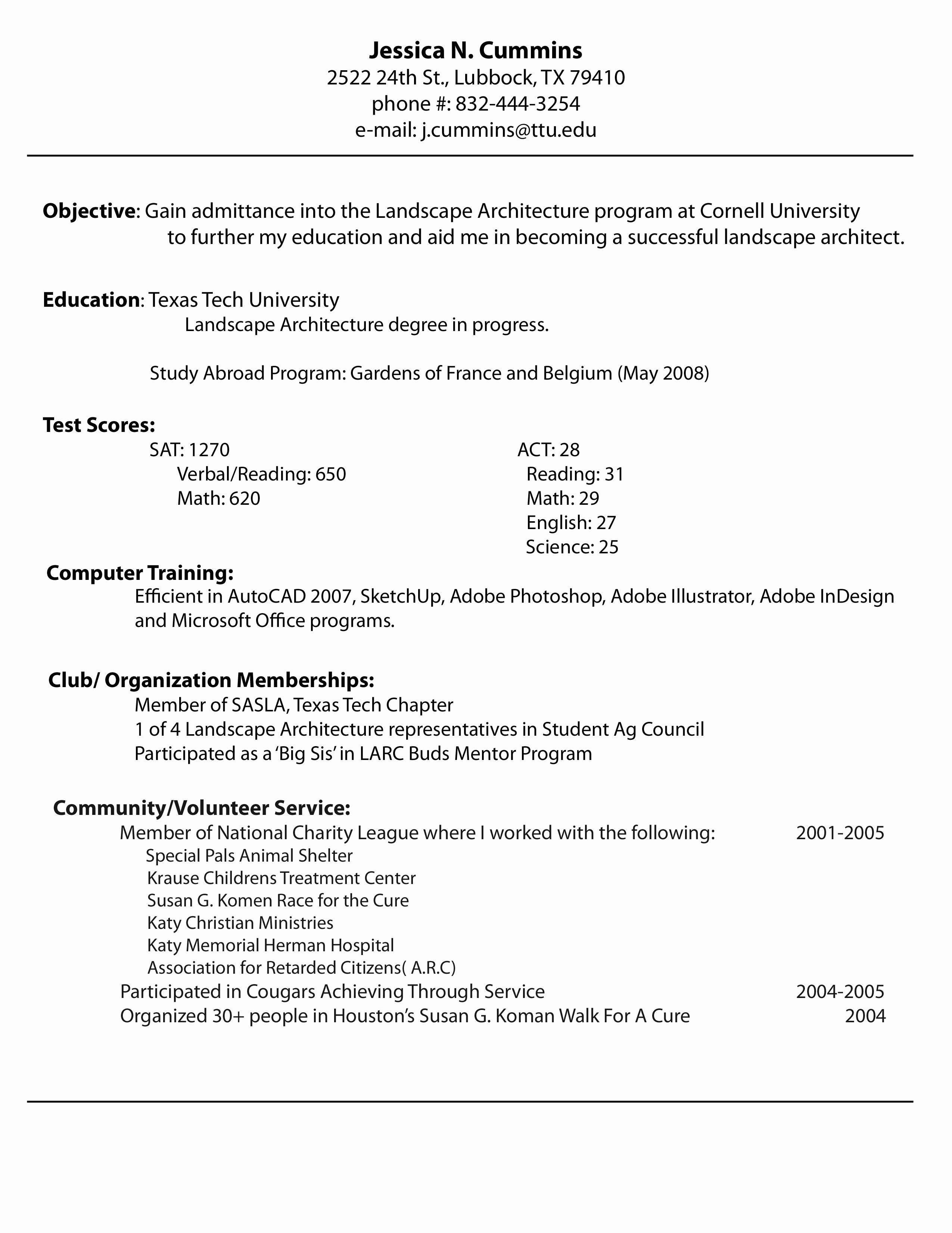 Sample Resume Xls Format Cover letter for resume