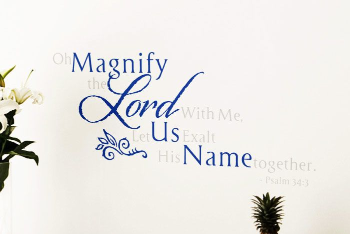 Oh Magnify The Lord With Me Let Us Exalt His Name Together