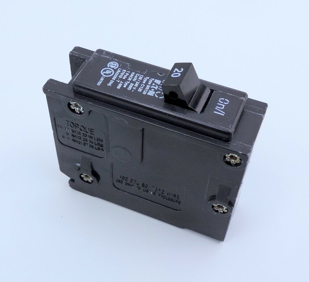 Details About Eaton Cutler Hammer Series Type Br 120 Amp Single Pole Circuit Breaker C120 Circuit Eaton Ebay