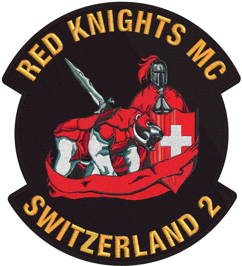 Zwitserland 2 Red Knight Biker Clubs Biker Logo