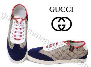 Chaussures Gucci Homme Pas Cher En Bleu/blanc