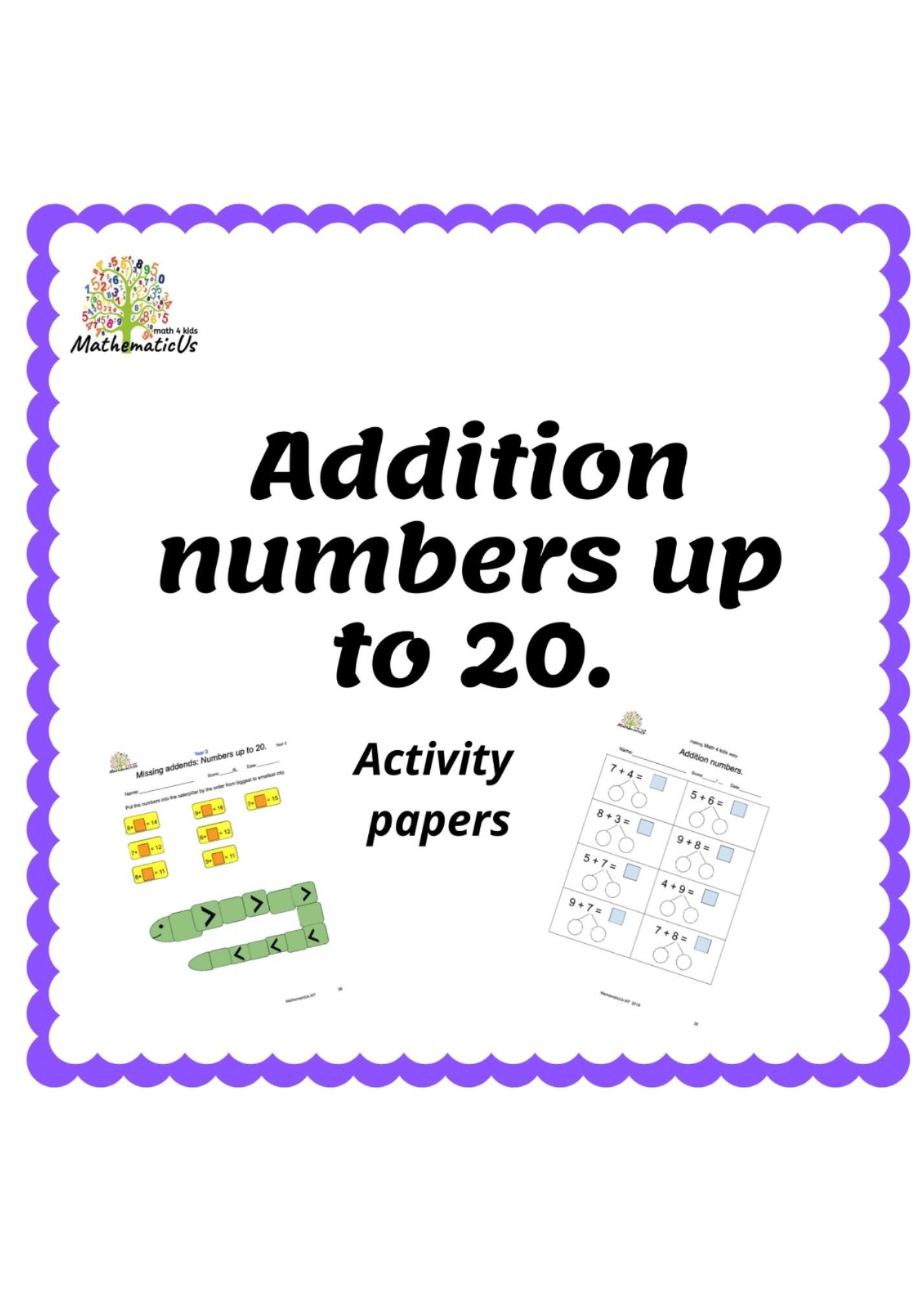 Addition Worksheets In