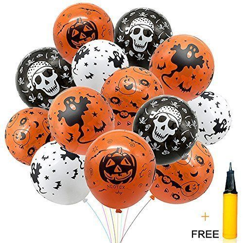 Halloween Decorations Balloons 100 Pcs Skeleton Specter Pumpkin - halloween decorations skeletons