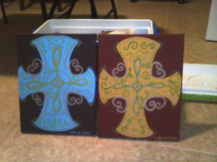 Request a custom order! www.etsy.com/... #art #painting #canvas #etsy #cross #colorful #local #handmade