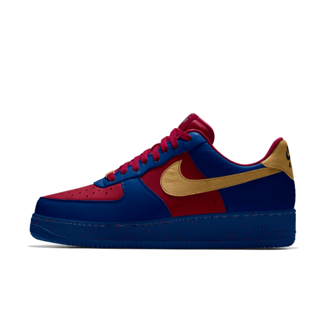 new products 4b2b3 6a57c Superman inspired Nike Air Force 1 Low iD Women s Shoe