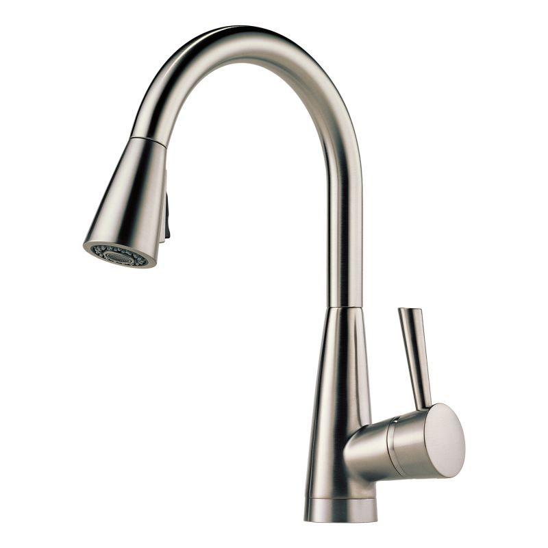Good Brizo 63070LF Venuto Pull Down Kitchen Faucet With Magnetic Docking Spray  Head   Brilliance Stainless