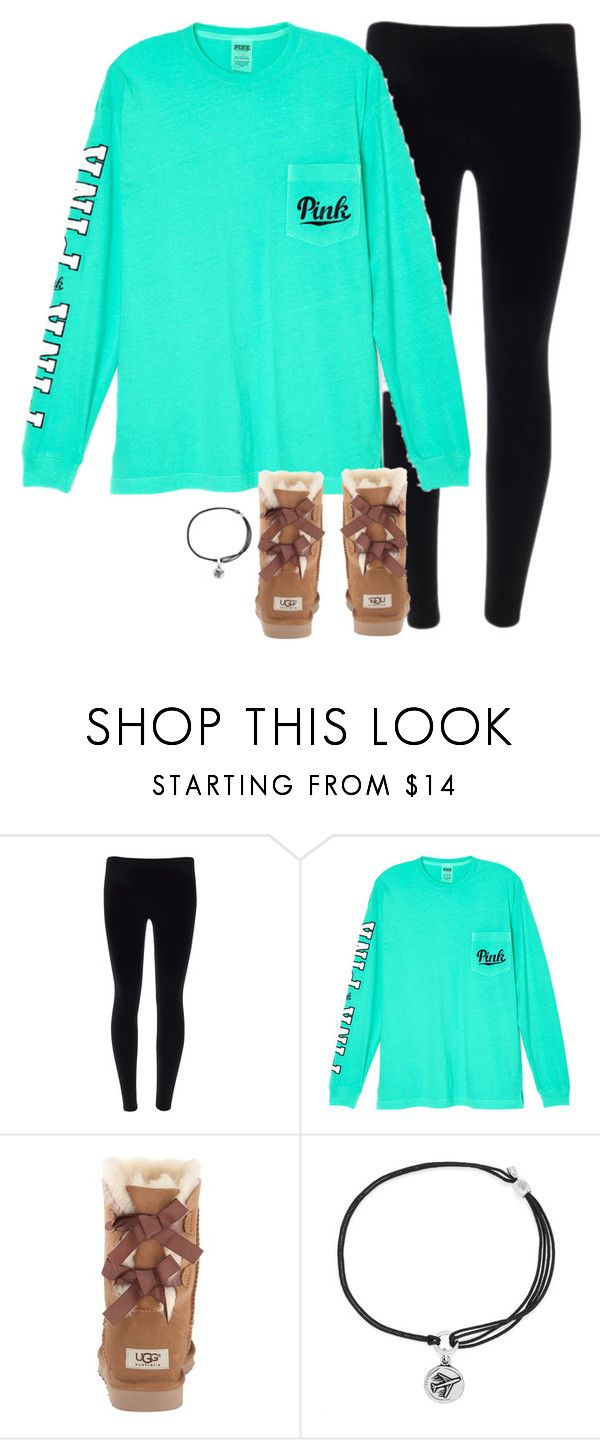 """It's 7am here"" by typical-lizzie ❤ liked on Polyvore featuring Victoria's Secret, UGG Australia and Alex and Ani"