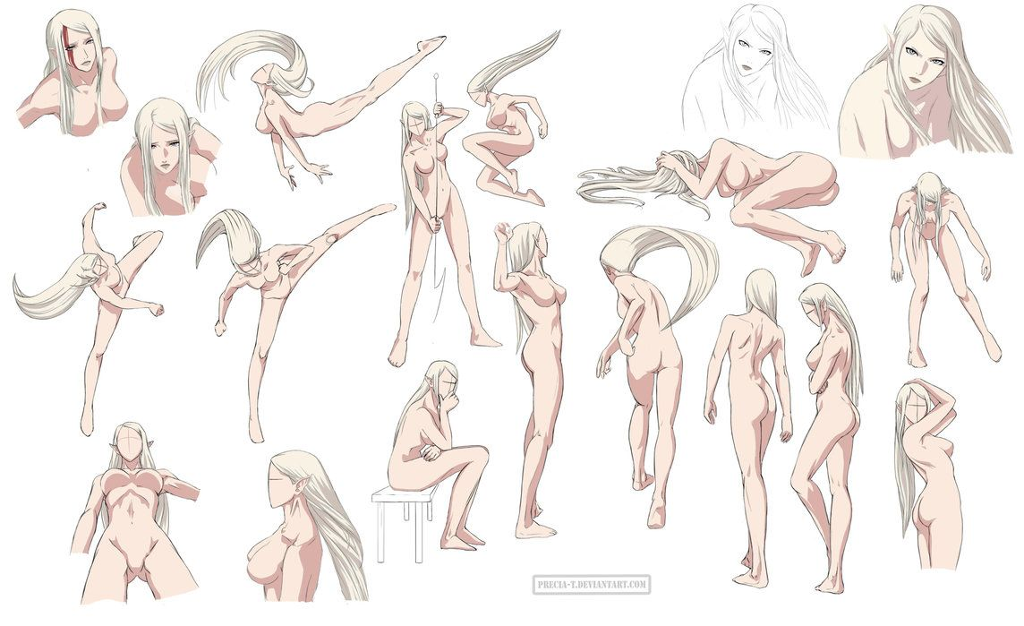 Female anatomy 6 Colored by Precia-T on deviantART   how to draw ...