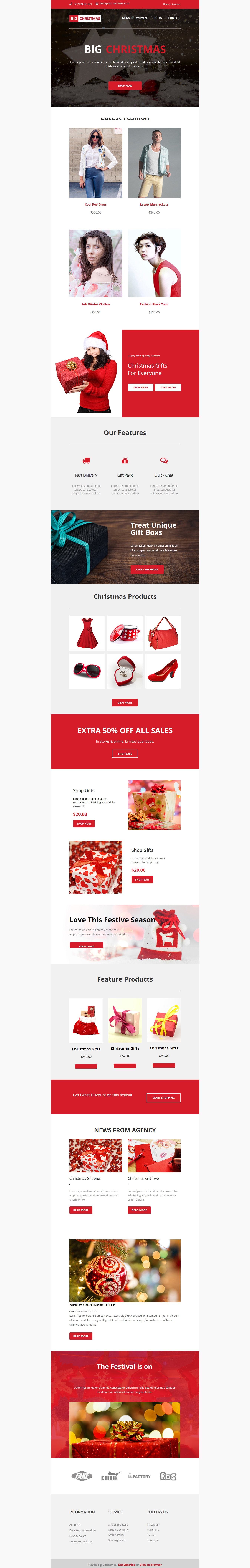 big christmas multipurpose email newsletter email newsletters and