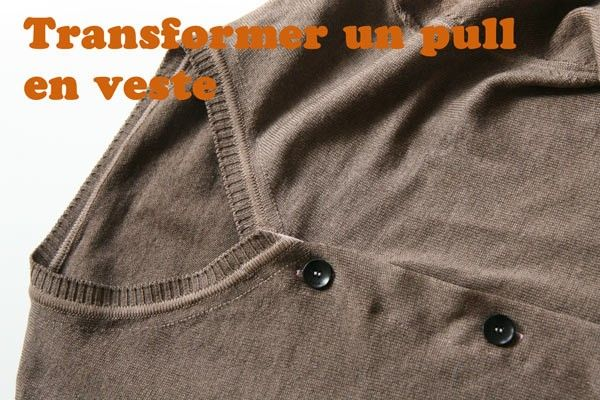 Transformer un pull en veste   couture  clothing   Couture, Sewing ... 1b554a81345