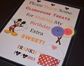 Birthday Party Candy Bar Sign / Mickey Mouse Theme