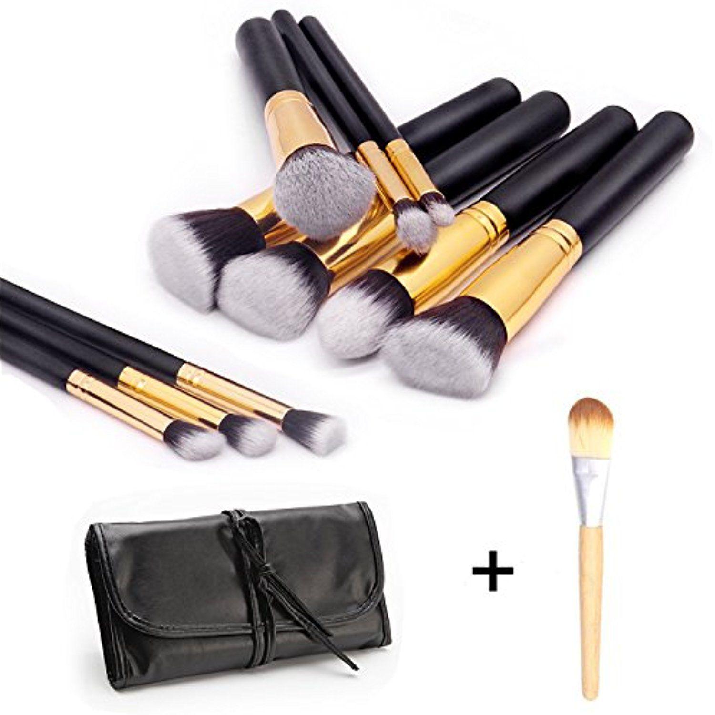 Makeup Brushes Set 10 Pieces Professional Face Eyeliner