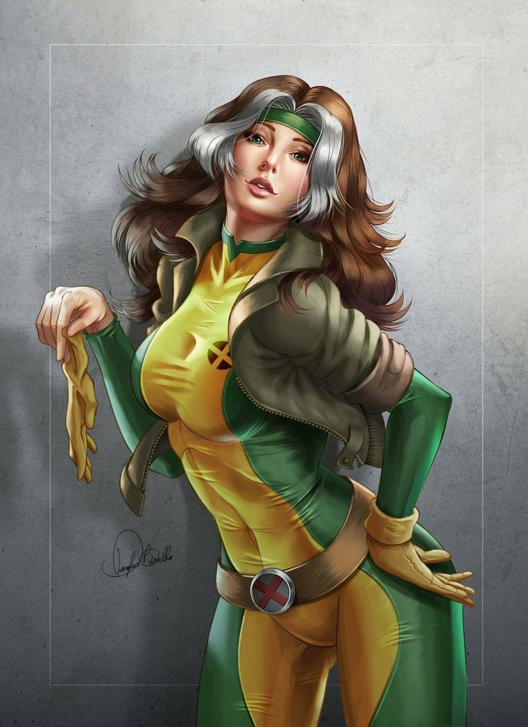 Rouge From The X Men Marvel Rogue Comics Girls Comic Art