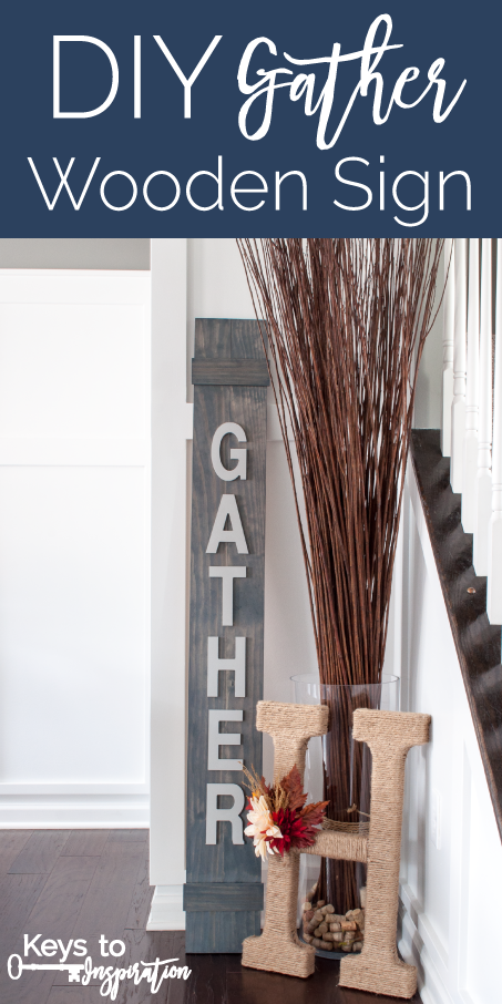 Great tutorial for an easy fall wooden sign. This Gather Sign is perfect for Thanksgiving! I love the rustic modern twist for autumn.