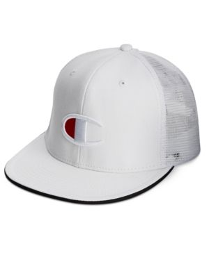 ca3fcbd690c Champion Men s Logo Snap-Back Baseball Cap - White