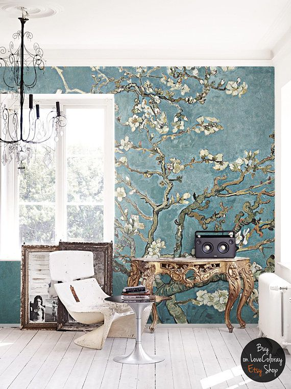 Cherry blossom wallpaper chinoiserie wall mural for Chinoiserie mural wallpaper