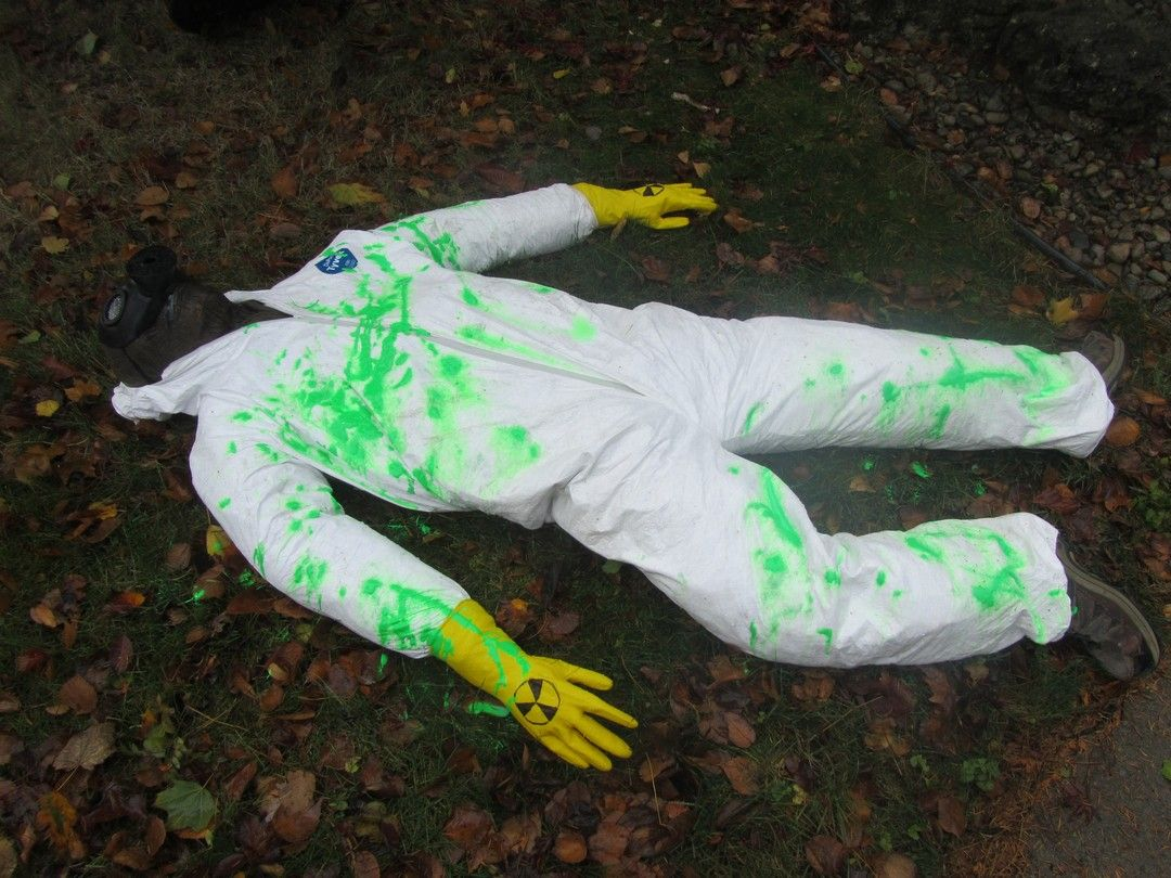 Radiation victim (with glow in the dark paint) dyi halloween - glow in the dark halloween decorations