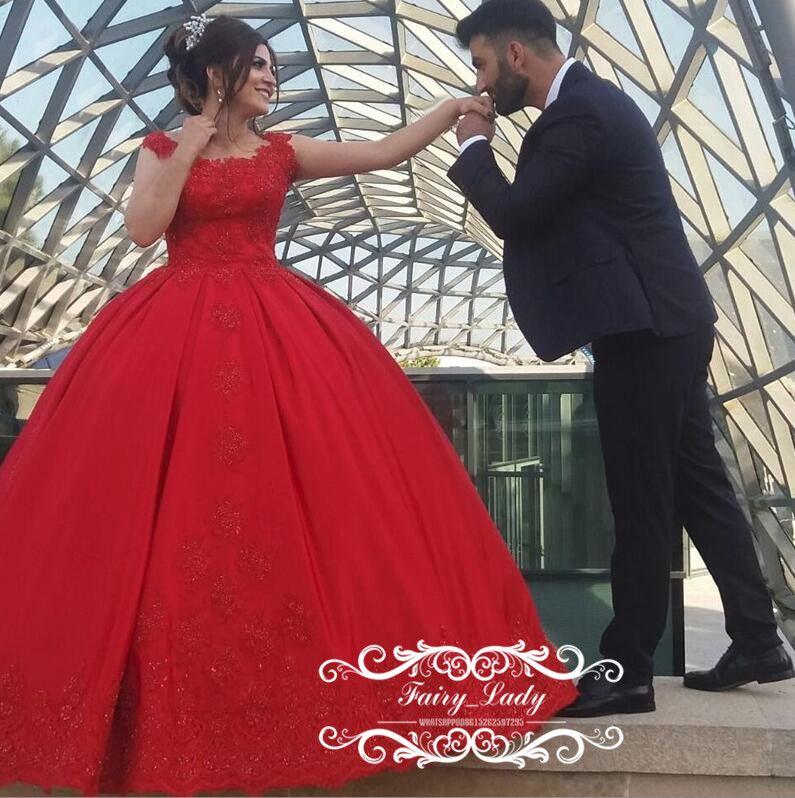 Plus Size Red Wedding Dresses 2018 Vestido De Noiva Long ...