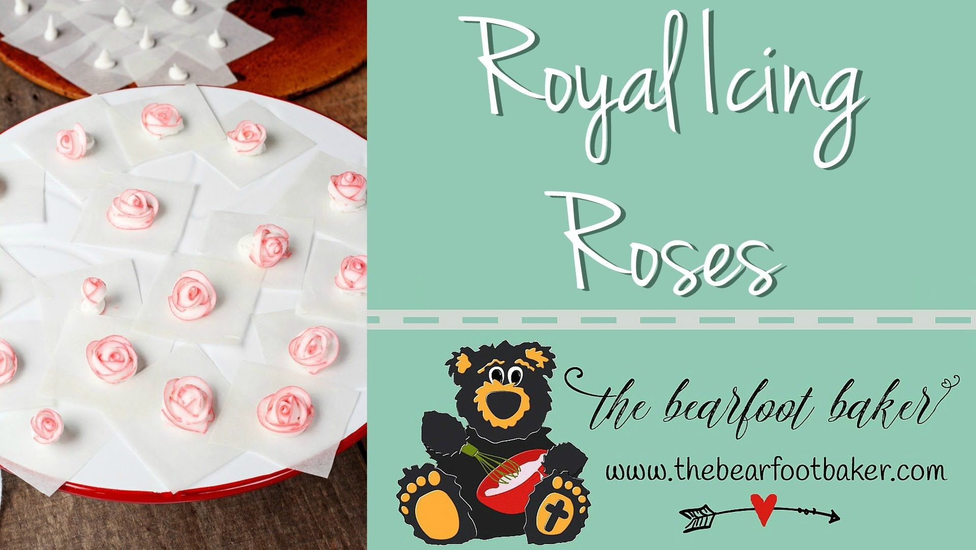 How to Make Royal Icing Roses ~ The Bearfoot Baker | Flowers, Leaves ...