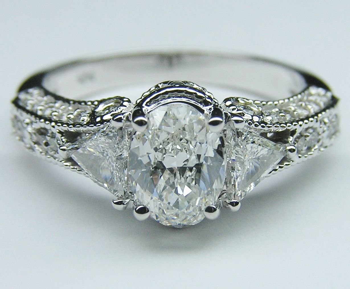 We looked at this one together vintage style oval diamond