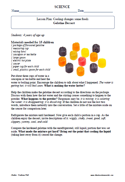 Cooking & Food Science Fair Project Ideas | First Grade Worksheets ...