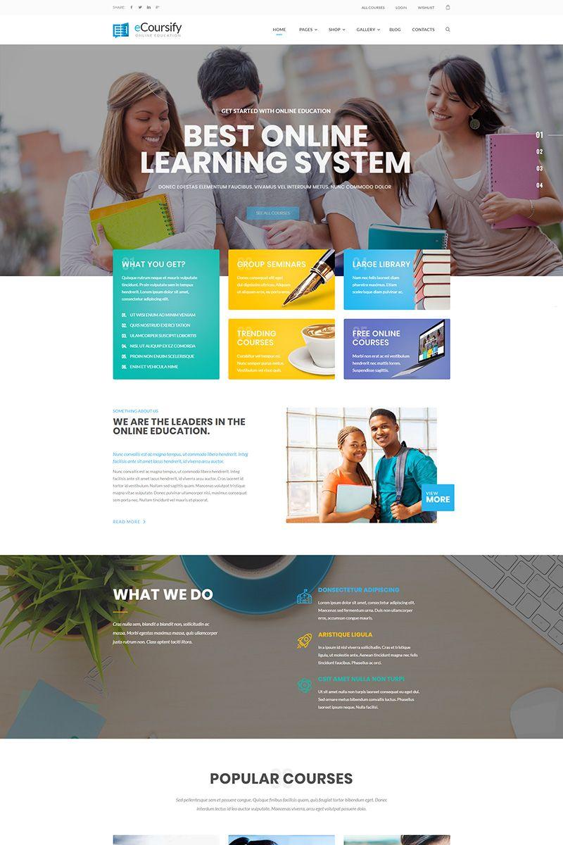 ECoursify - LMS for Online Courses WordPress Theme Big Screenshot