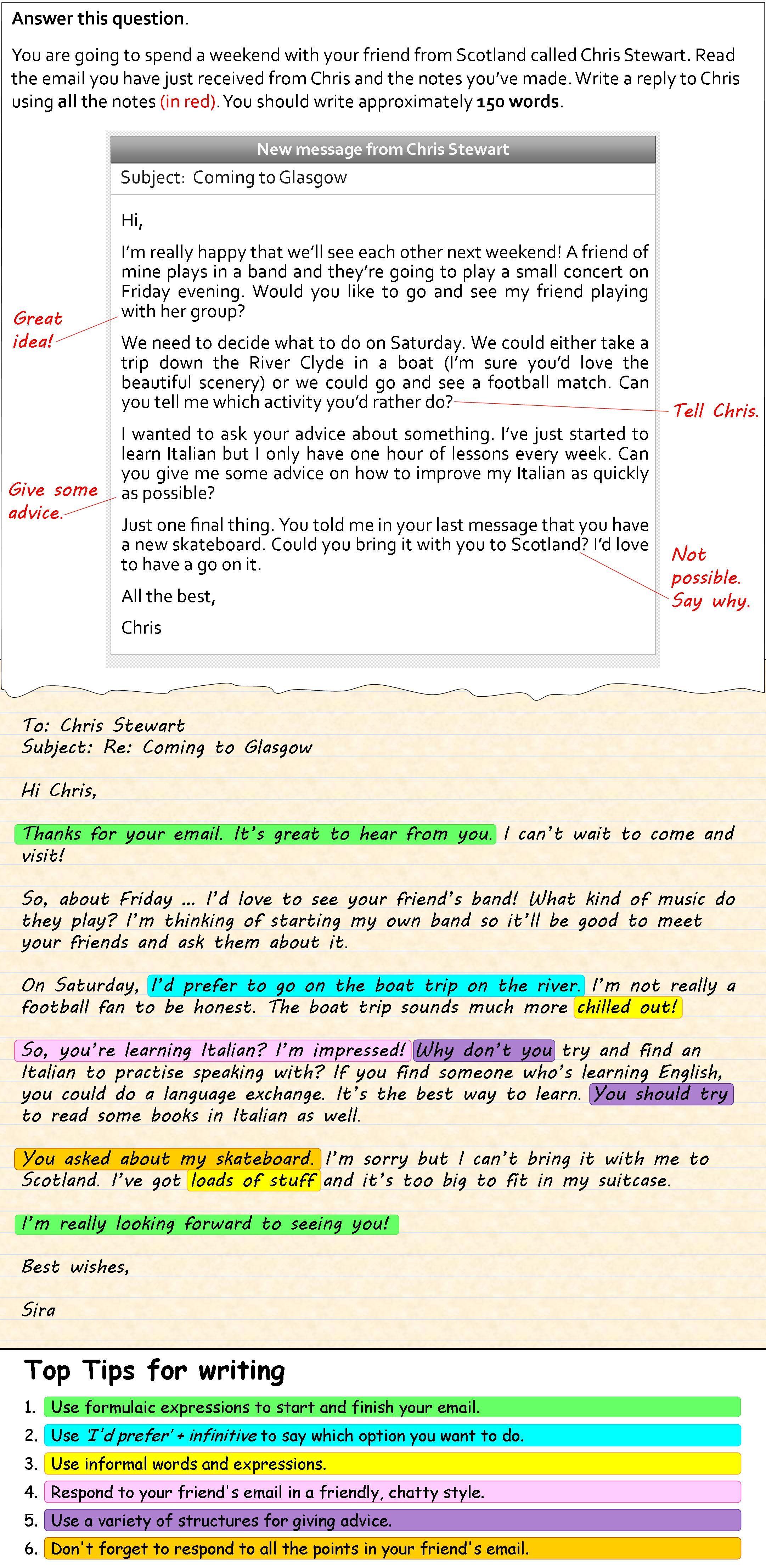 How To Write An Informal Email Schreiben Englisch Essay