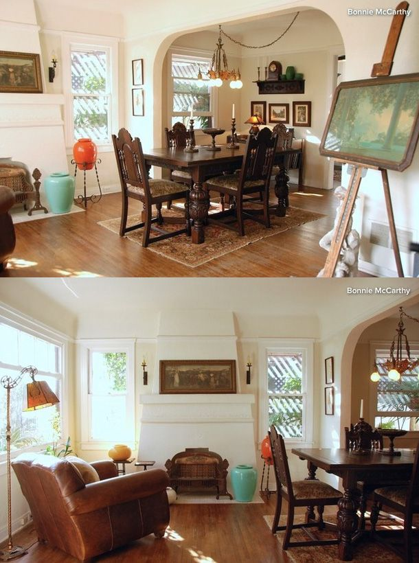 My Houzz Early California Style For Michael Mciver S 1920 S Home In Long Beach Calif Photos By Bonnie Mccarthy Rooms Wi 1920s House California Living Home