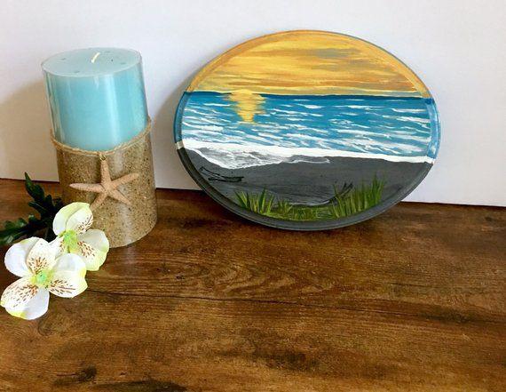 Painting Beach Art Wood Sign Beach Themed Decor Beach Wall Etsy