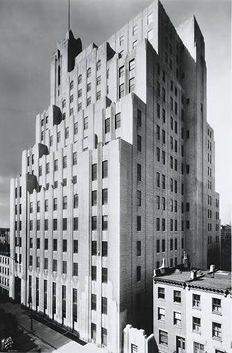 Art Deco ~ New York City | Stella Tower, 425 West 50th Street, Hell's Kitchen, Manhattan.  Designed by Ralph Walker, 1927.