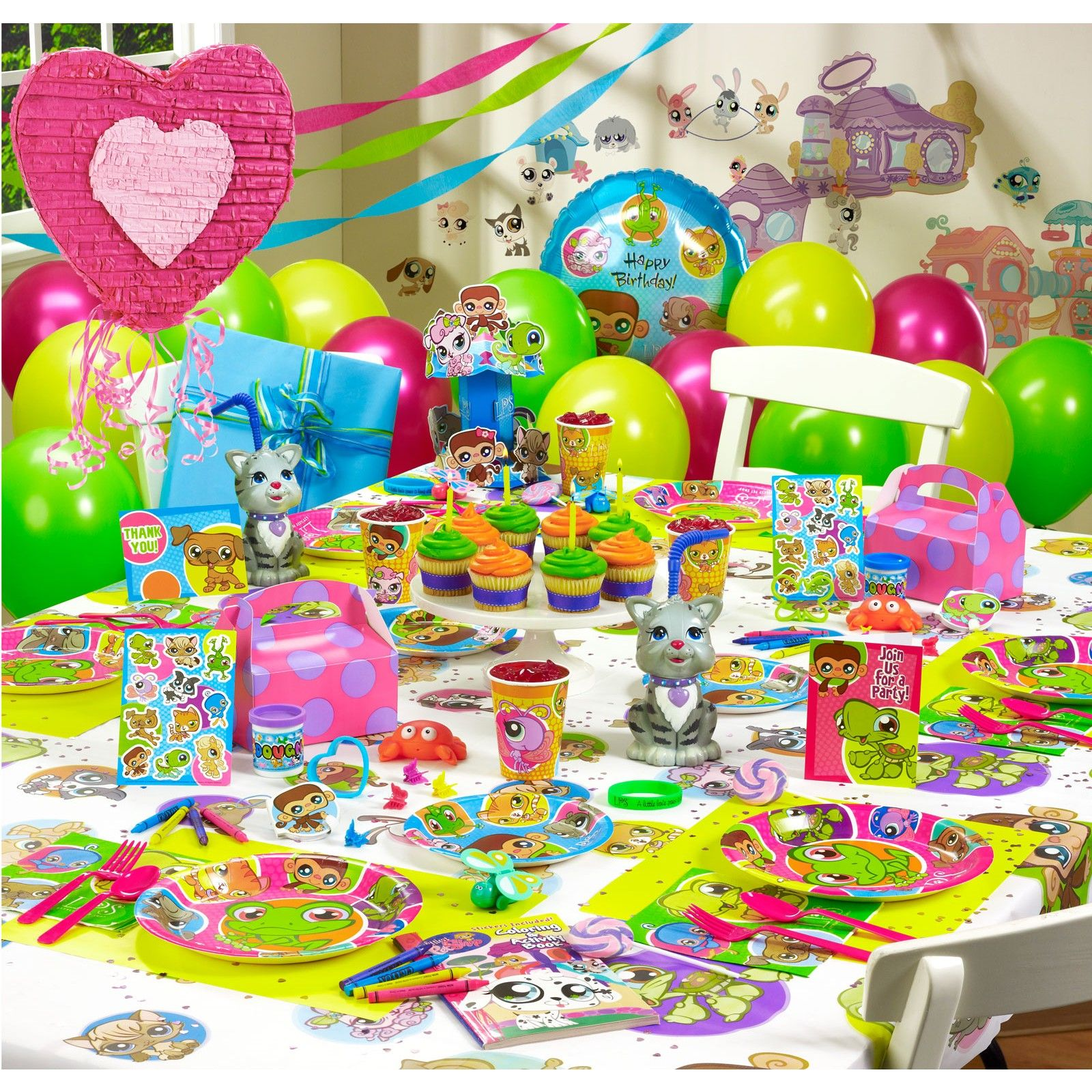 LIttlest Pet Shop birthday supplies (With images) | Bday ...