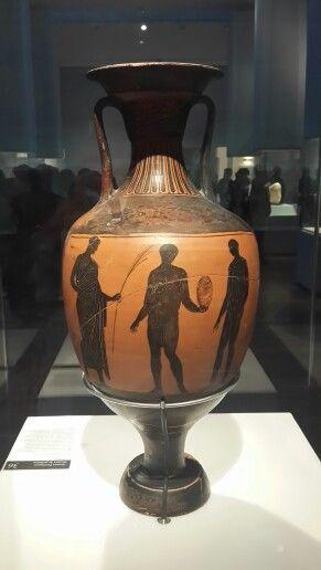 Lindo Jarron De La Antigua Grecia En La Exposicion Temporal Dioses Griegos Del Museo Nacional Vase Home Decor Gifts