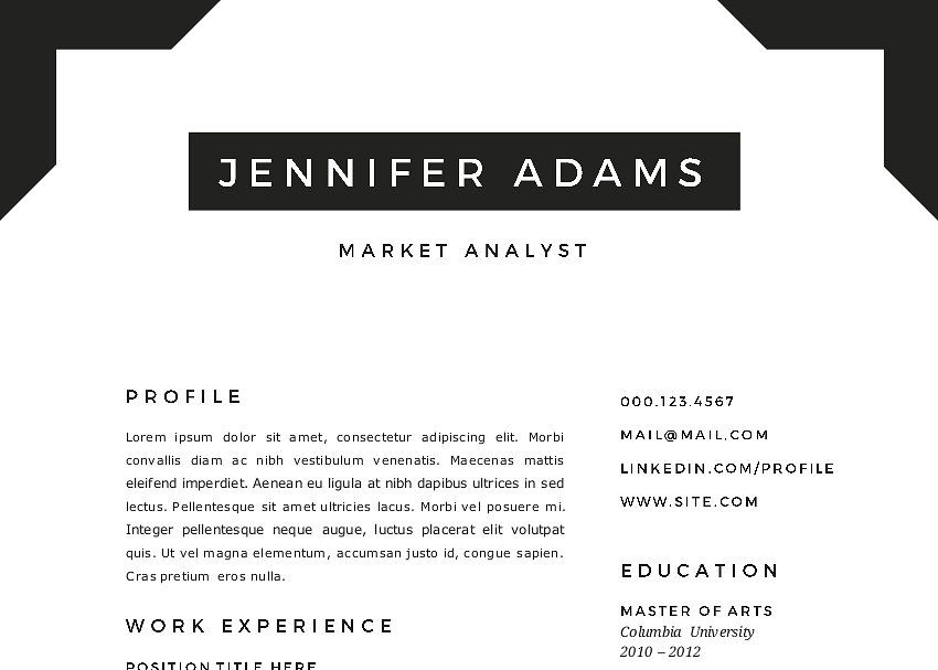 frame 2 in 1 word resume template resume word frame templates