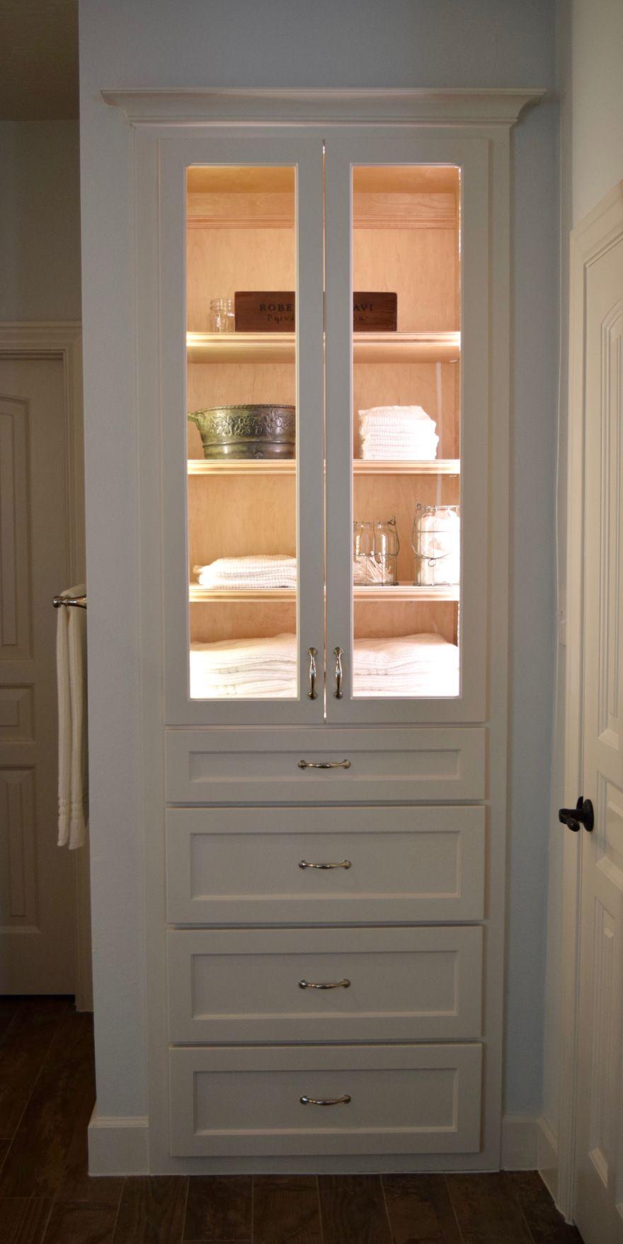 Crisp Clean Master Bath Reno Glass Cabinet Doors Glass Kitchen Cabinet Doors Glass Shelves In Bathroom