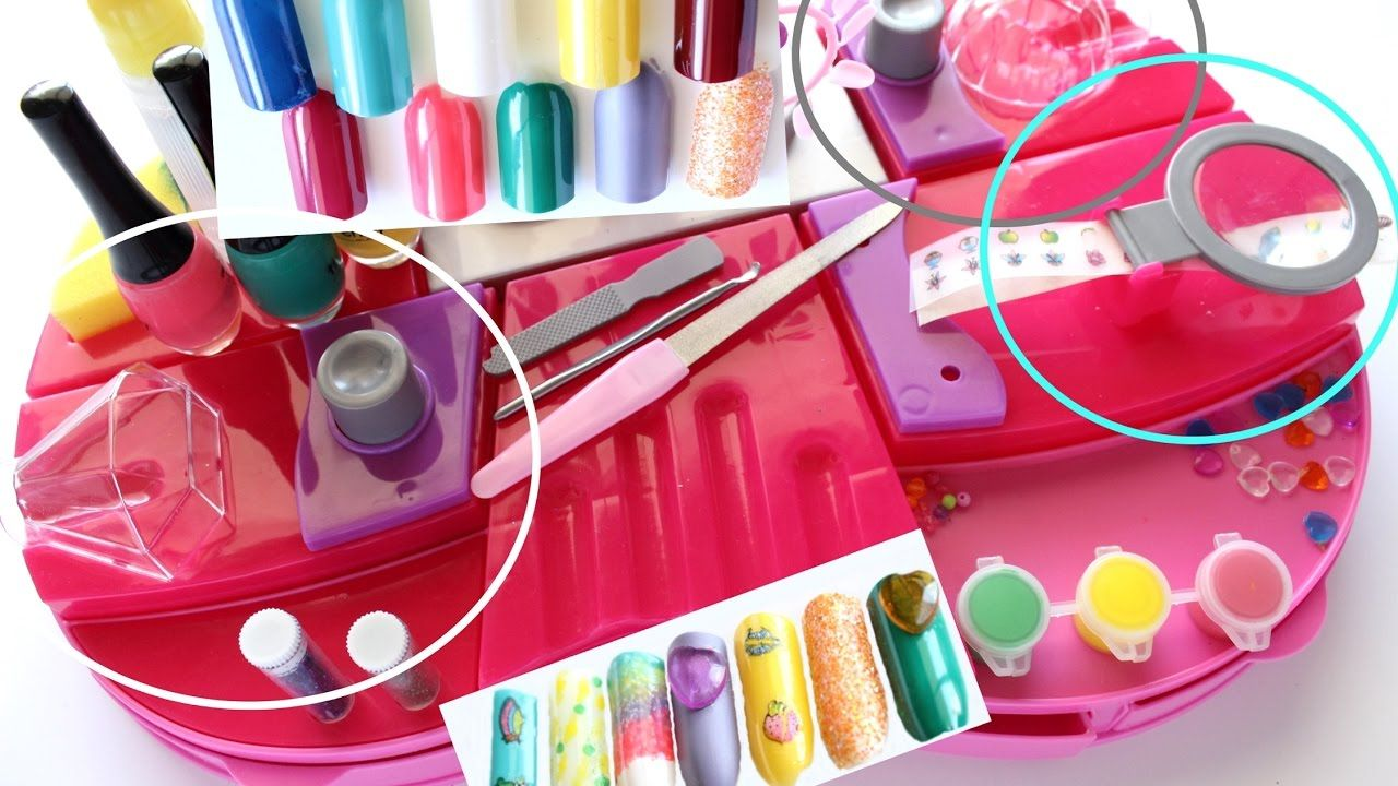 Kids Nail Design Station Toys turned fun/My Pink Nail Station|| Tia ...