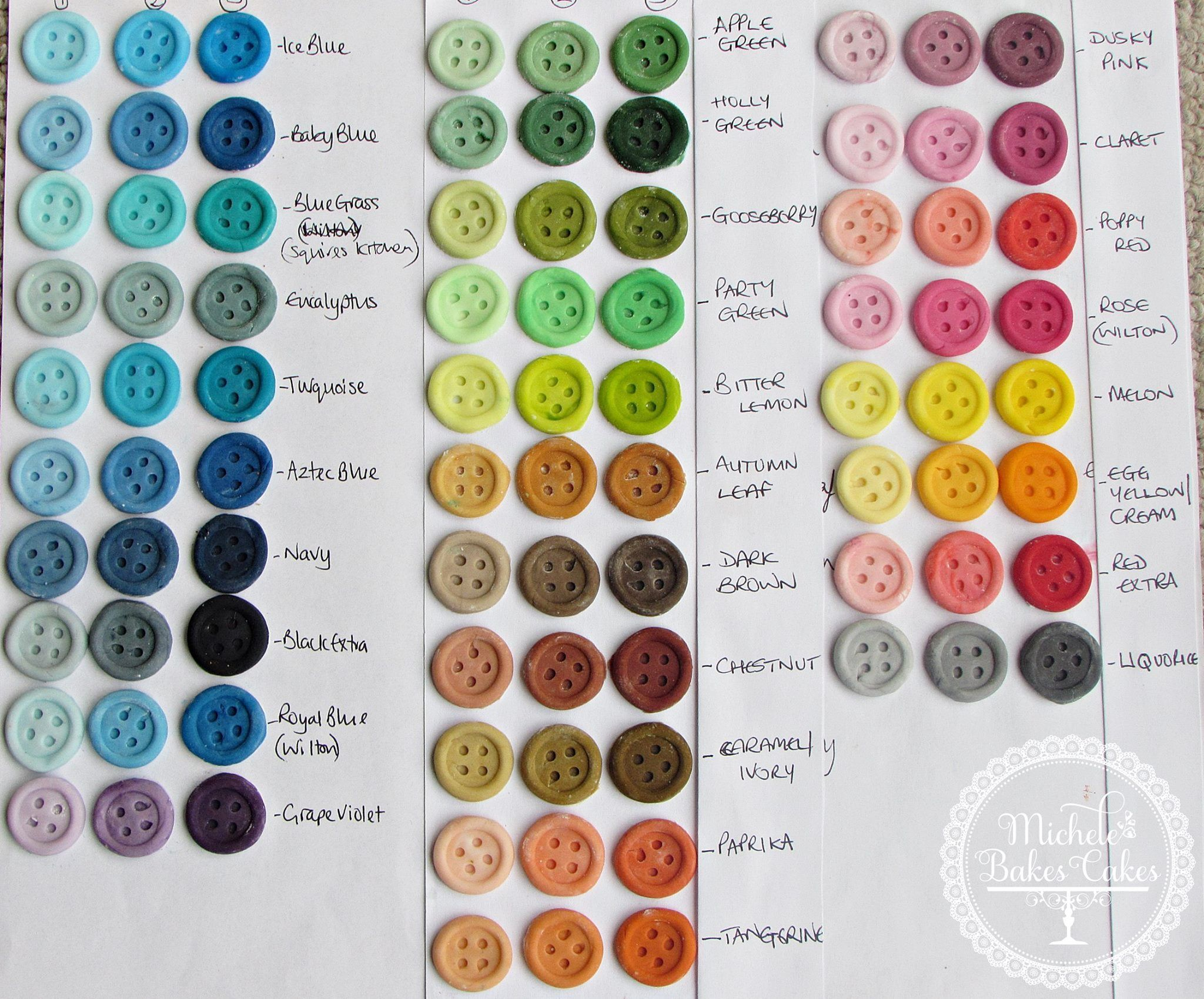 Food Color chart - Sugarflair & Wilton | Baking & Decorating ...