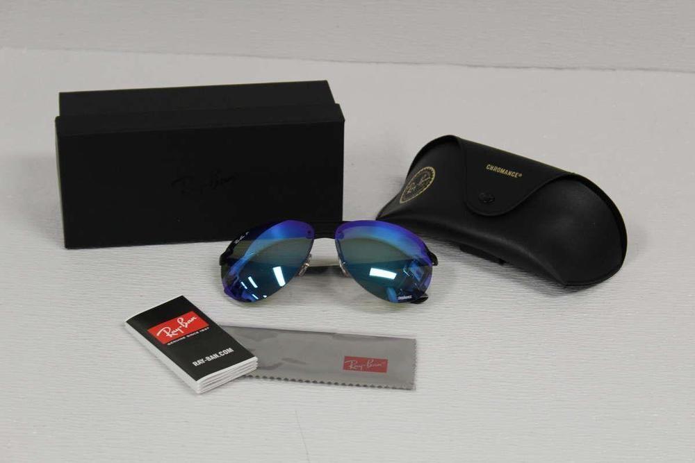 2188fbd927a eBay  Sponsored Ray Ban Men s Sunglasses Polarized RB4293CH 601 A1  Black Blue Mirror