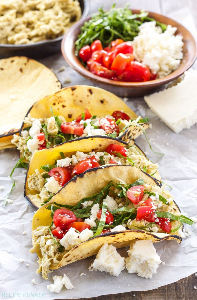 Beulahs Tasty Food Network Creamy Green Chile Chicken Tacos