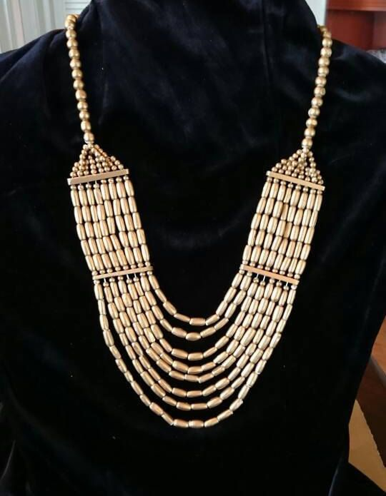 Ogrim Designs Handmade Cleopatra Style Bib Necklace