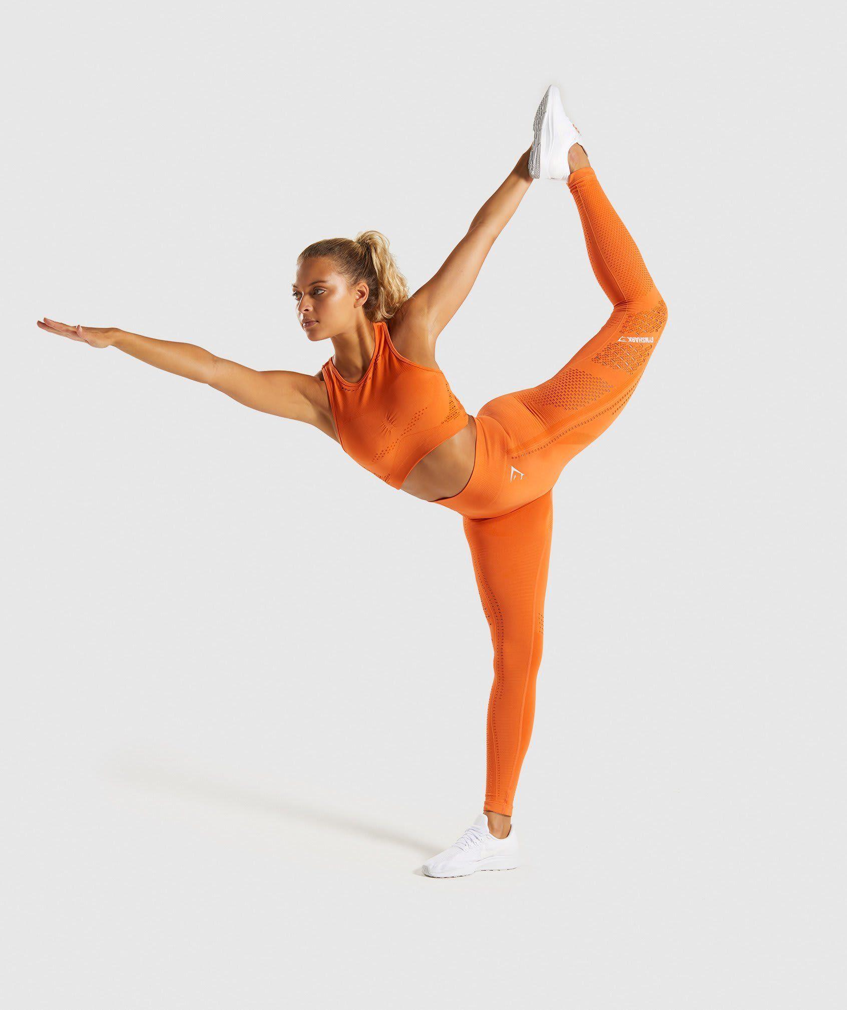 Gymshark Flawless Knit Sports Bra Burnt Orange in 2020