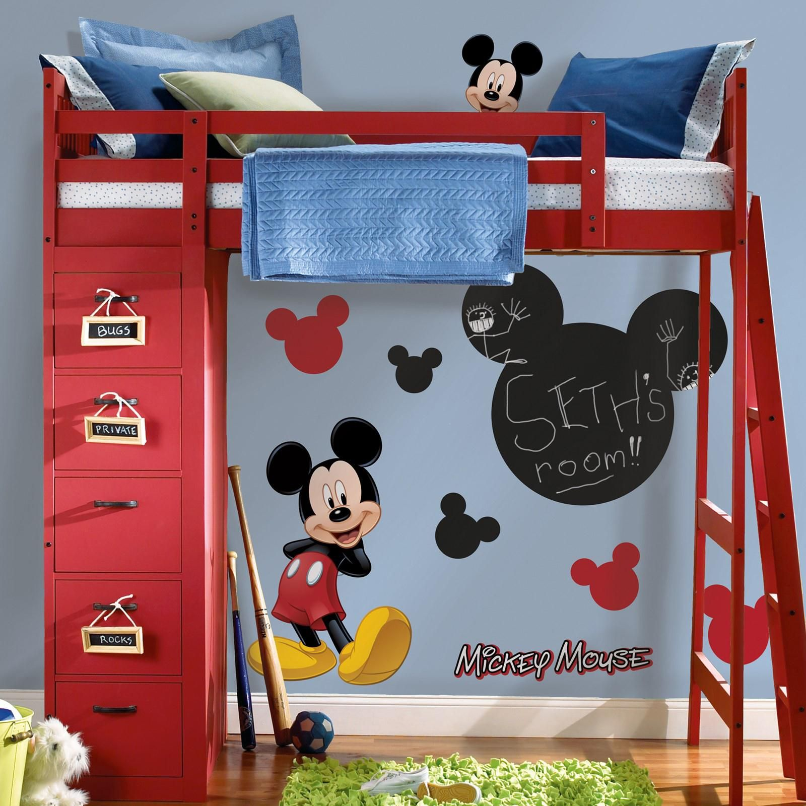 15 cute mickey mouse kids room designs and furniture : small sky