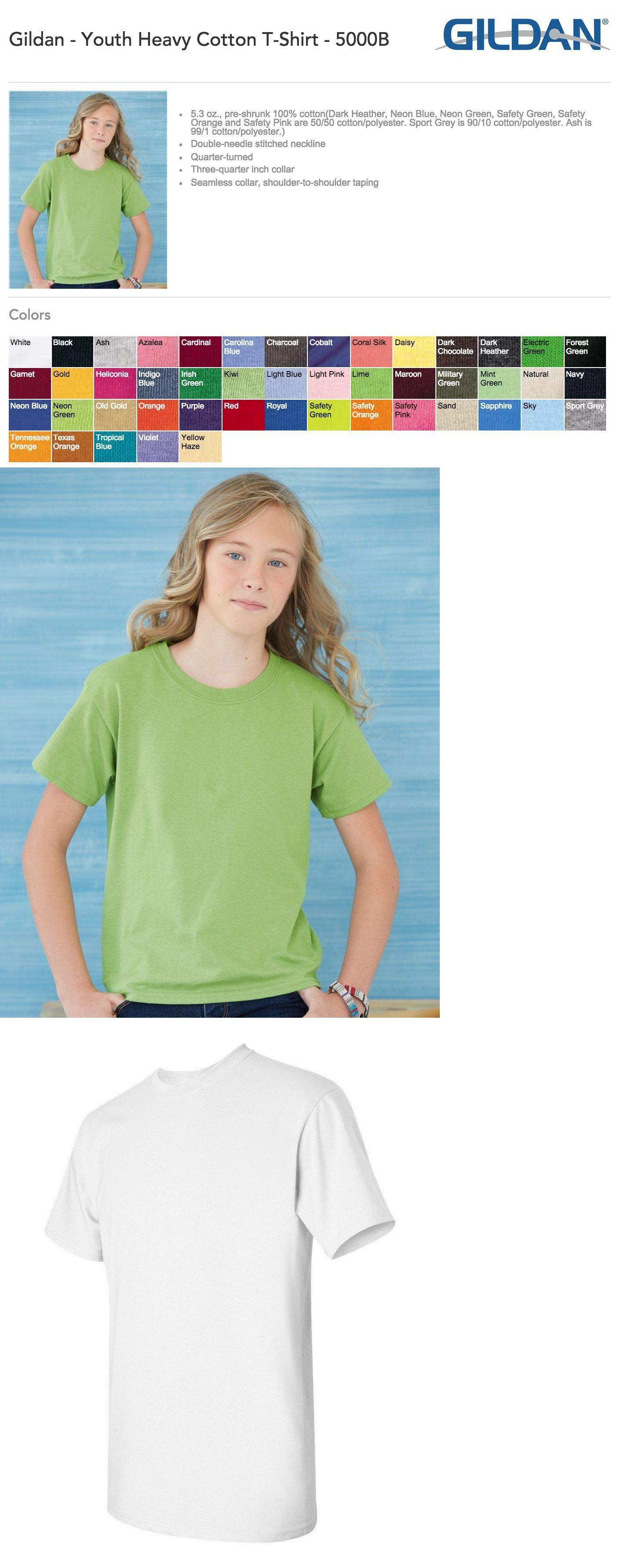 100 Blank Gildan Heavy Cotton T-Shirt Wholesale Lot