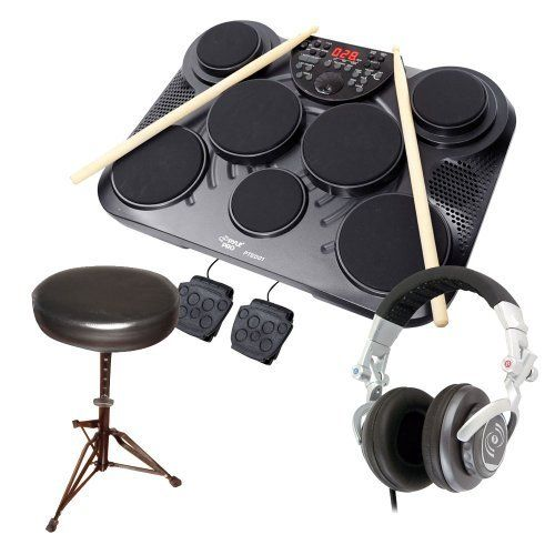 Drumsticks /& Power Supply Tabletop Roll Up Drum Kit Pyle PTEDRL11 Loaded W// Drum Electric Kits /& Songs Pyle Electronic Roll Up MIDI Drum Kit Foot Pedals W// 9 Electric Drum Pads