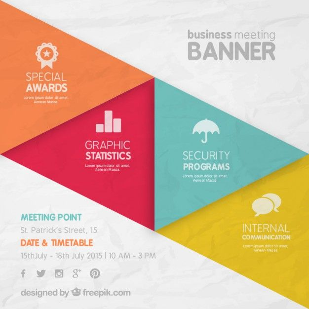 business meeting banner Free Vector   Graphic Design   Pinterest ...