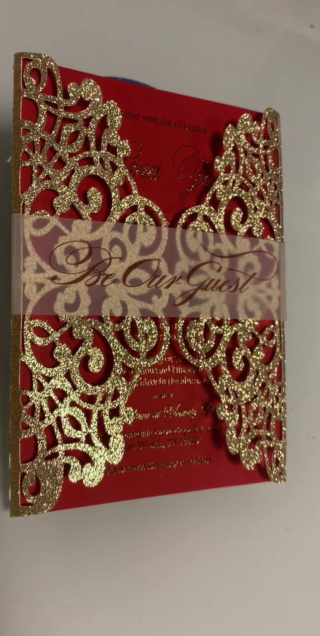 Red and gold laser cut invitations -   18 wedding Indian ideas