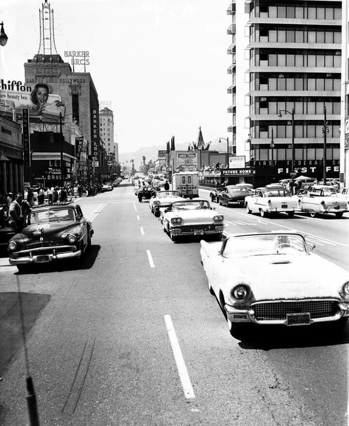 Los Angeles 1950s Vintage Los Angeles Hollywood Building Street Scenes