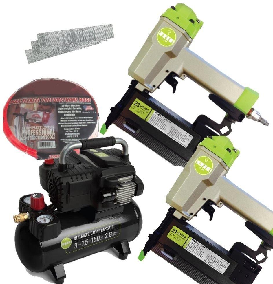 Cadex V2/BUNDLE 21/23 Ga. Pin Nailer & Air Compressor Kit   Nail Gun ...